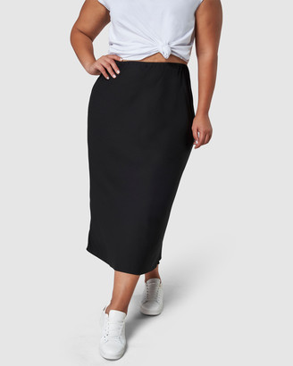 Something 4 Olivia - Women's Black Pencil skirts - Lucia Midi Skirt - Size One Size, 14 at The Iconic