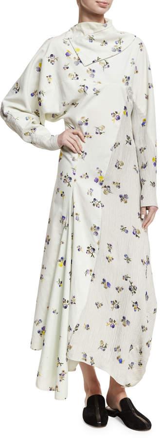 Acne Studios Dragica Floral-Print Voile Dress