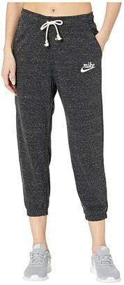 Nike NSW Gym Vintage Capris (Black/Sail) Women's Casual Pants