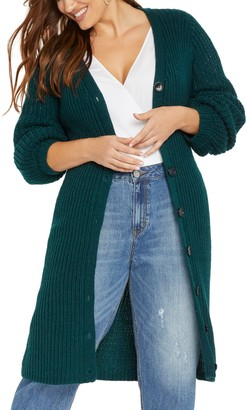 ELOQUII Balloon Sleeve Sweater Dress