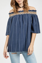 Blu Pepper Striped Tunic Top