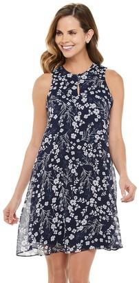 Chaps Women's Sleeveless Floral Print Shift Dress