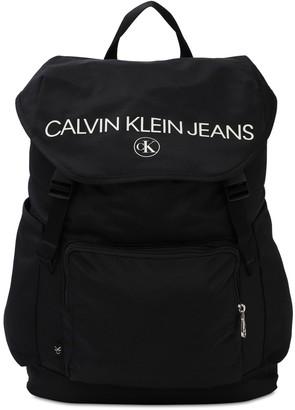 Calvin Klein Jeans Logo Print Recycled Nylon Backpack
