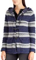 Chaps Petite Hooded Jacquard Cardigan
