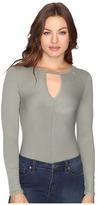 Brigitte Bailey Cora Long Sleeve Keyhole Bodysuit
