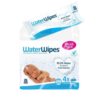 WaterWipes Hypoallergenic Baby Wipes with Purified Water and Grapefruit Seed Extract - 240 Pack