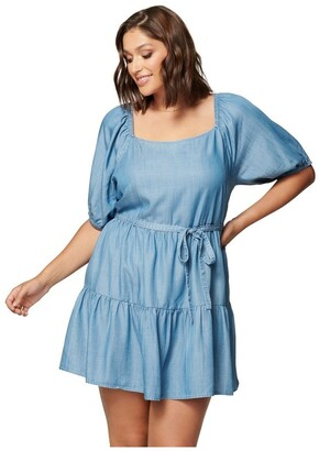 Forever New Curve Shona Curve Square Neck Smock Dress