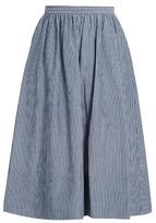 Vince Striped cotton skirt