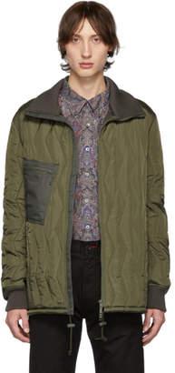 Junya Watanabe Khaki Ripstop Quilted Jacket