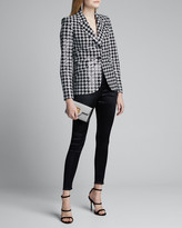 L'Agence Chamberlain Sequined Houndstooth Blazer