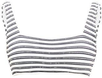 Heidi Klein Corsica Square-neck Bikini Top - Navy Stripe