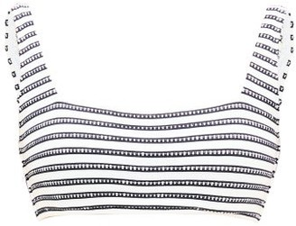 Heidi Klein Corsica Square-neck Bikini Top - Womens - Navy Stripe