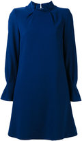 Goat pleat collar tunic dress - women - Polyester/Acetate/Wool - 8