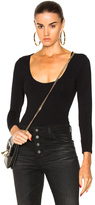 Frame Cut Out Long Sleeve Bodysuit in Black.