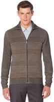 Perry Ellis Textured Full Zip Sweater