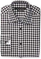 Sean John Men's Tailored Fit Textured Check Shirt