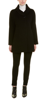 Cinzia Rocca Icons Funnel Wool & Cashmere-Blend Coat