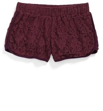 Mia Chica Lace Running Shorts (Big Girls)