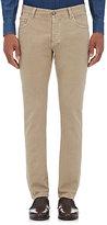 Isaia Men's Slim-Fit Jeans-TAN