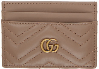 Gucci Beige GG Marmont Card Holder