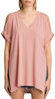 AllSaints Cora Cold-Shoulder Tee
