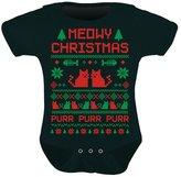 TeeStars - Cute Xmas Bodysuit - Meowy Christmas Ugly Sweater Design Baby Onesie