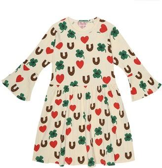 Mini Rodini Clover stretch-cotton dress