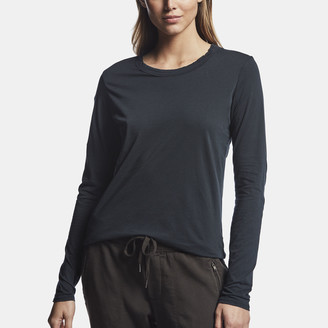 James Perse Luxe Lotus Jersey Crew