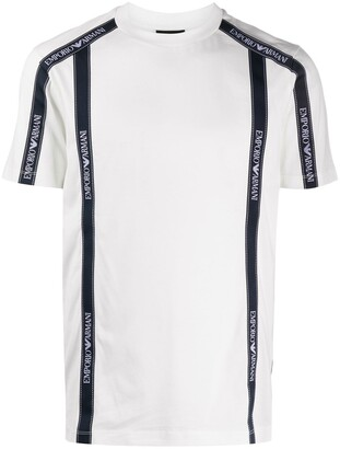 Emporio Armani logo-print crew neck T-Shirt