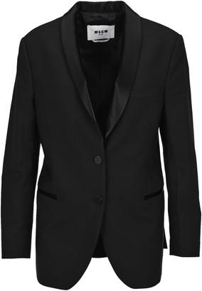 MSGM Satin Lapel Smoking Jacket