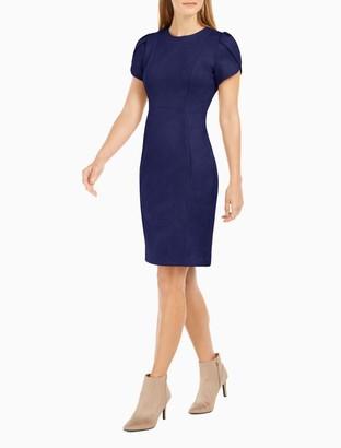 Calvin Klein Scuba Tulip Sleeve Sheath Dress