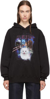 MSGM Black Space Cats Hoodie