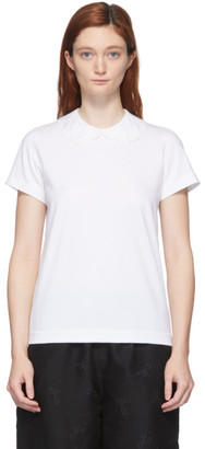 Comme des Garcons White Round Collar T-Shirt