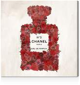 Oliver Gal Number 5 Red Rose Wall Art, 10 x 10
