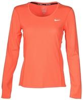Nike Women's Dri-Fit Contour Long Sleeve Running Shirt-Coral-Medium