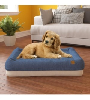 Way Basics Large Pup Pup Kitty Plush Orthopedic Breathable Pet Mat with NoFom Cushion Technology