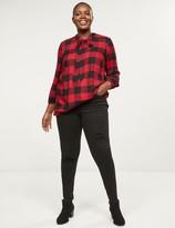 Lane Bryant High-Rise Skinny Jean - Destructed Black