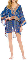 Gianni Bini Lace Up Tunic Cover Up