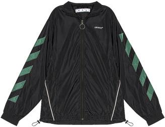 Off-White Diag Nylon Jacket in Black & White | FWRD