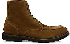 Eleventy Men's Split Toe Suede Oxford Boots