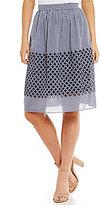 Daniel Cremieux Jessie Gingham Embroidered Skirt