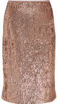 J.Crew Sequined Crepe Skirt - Metallic