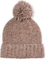 J.Crew Jasper Pompom-embellished Chunky-knit Beanie - Mushroom
