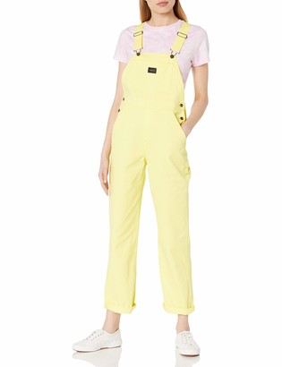 Obey Women's Relaxed fit Overalls with Utility Painters Pockets