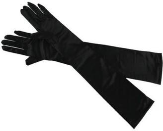 Vincenza Long Evening Gloves Satin Elbow Gloves Bridal Fancy Dress Gloves Wedding Prom Opera Gloves Style for Women UK STOCK (FUSCIA)