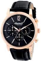 Ingersoll Men's INQ016BKRS Portland Analog Display Japanese Quartz Black Watch