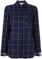 Courreges checked chest pocket shirt