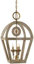 Visual Comfort & Co. Nina 3-Bulb Wooden Lantern - Belgian Gild