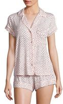 Eberjey Sketchy Spots Short Pajama Set