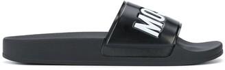 Moschino Logo Embossed Slides